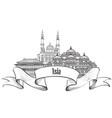 travel asia sign famous building landmark asian vector image