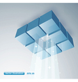 3D cubes with light shinning vector image