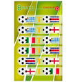 Football Tournament of Brazil 2014 Group D vector image