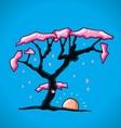 Figure cherry tree vector image vector image