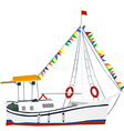 Holiday cruise ship vector image vector image