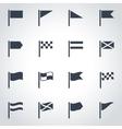 black flag icon set vector image