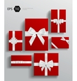 gift wrapping collection vector image vector image