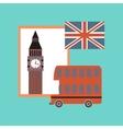 flat icon on stylish background United Kingdom set vector image