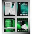 Abstract brochure design templates Modern back vector image