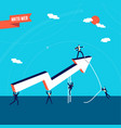 business marketing teamwork success vector image