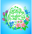 Easter greetings vector image