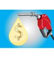 fuel dispensers and oil drop with money symbol vector image