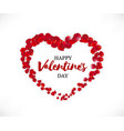 happy valentines day beautiful heart vector image