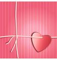 Heart paper present vector image