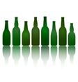 isolated green beer bottles vector image