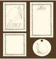 Lemon Menu Pages Card and Tag Design Set vector image