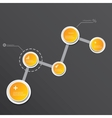 Modern infographics timeline Design template vector image