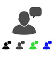 user message cloud flat icon vector image