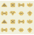Seamless background with Touareg tattoo symbols vector image