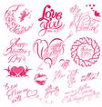 valentine day calligr 6 380 vector image