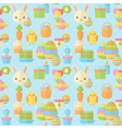 Cute Easter seamless pattern in flat vector image vector image