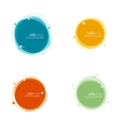 Abstract round banner vector image