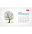 calendar 2012 august Art tree design vector image