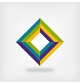 colored square logo symbol vector image
