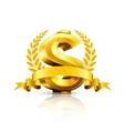 Dollar sign emblem vector image