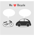 many car and bicycle vector image