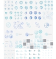 mega set of linear stamp logos vector image