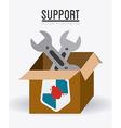 Technical support design vector image