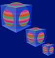 The sphere in a transparent cube vector image