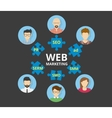 Web marketing vector image