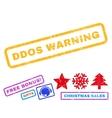 Ddos Warning Rubber Stamp vector image