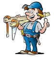 Happy Carpenter Handyman vector image