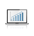 Graph in Laptop vector image vector image