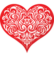 Heart with abstract patttern vector image