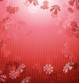 Red Christmas New year snow fall background vector image