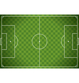 Soccer Field Checkered Background vector image vector image