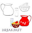 Breakfast with corn flakes vector image