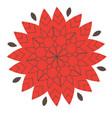elements for design stylized flower mandala vector image
