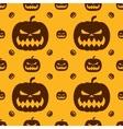 Pumpkin for Halloween Seamless pattern vector image