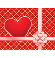 gift wrapper with red valentine vector image vector image
