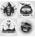 Skiing Emblem Design Composition vector image vector image