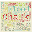 Chalk And Noah s Flood text background wordcloud vector image