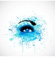 Grunge abstraction blue make-up vector image