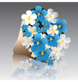 flower forget-me-not vector image vector image