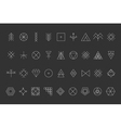 Set of geometric hipster shapes8 vector image