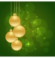 christmas green background vector image