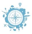 Travel agency round icon vector image