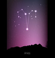 aries zodiac constellations sign with forest vector image