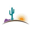 arizona desert vector image