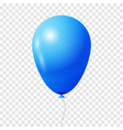 blue transparent balloon vector image